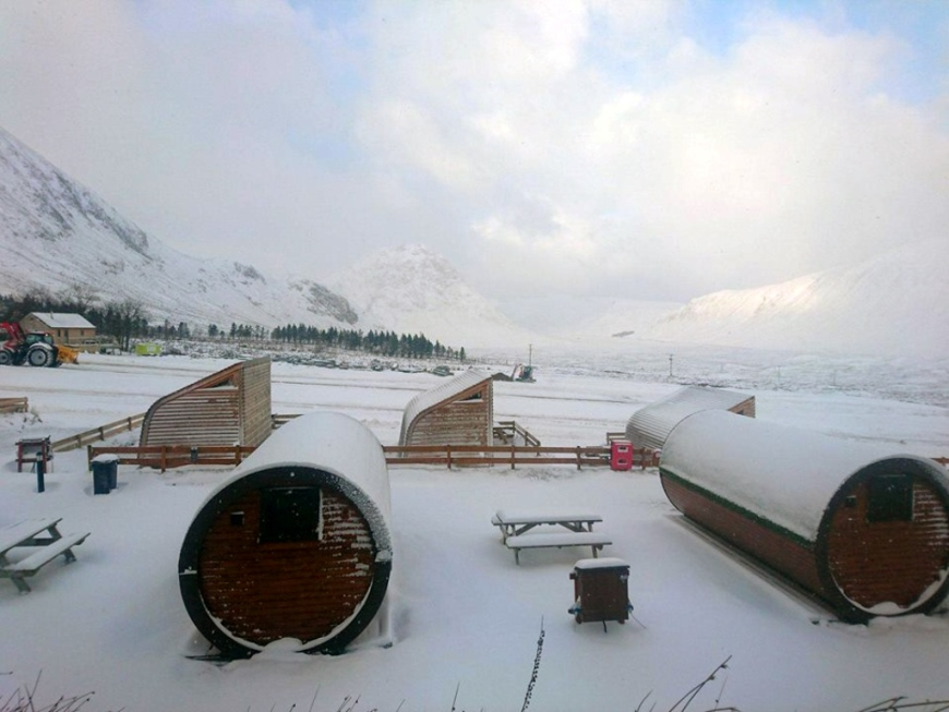 Microlodges winter