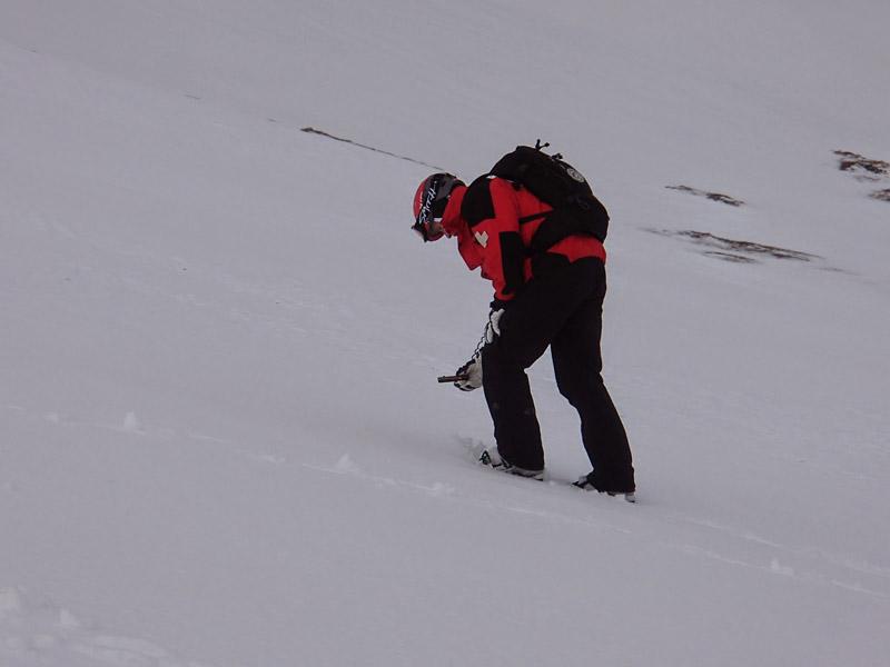 Glencoe Ski Patrol Practising