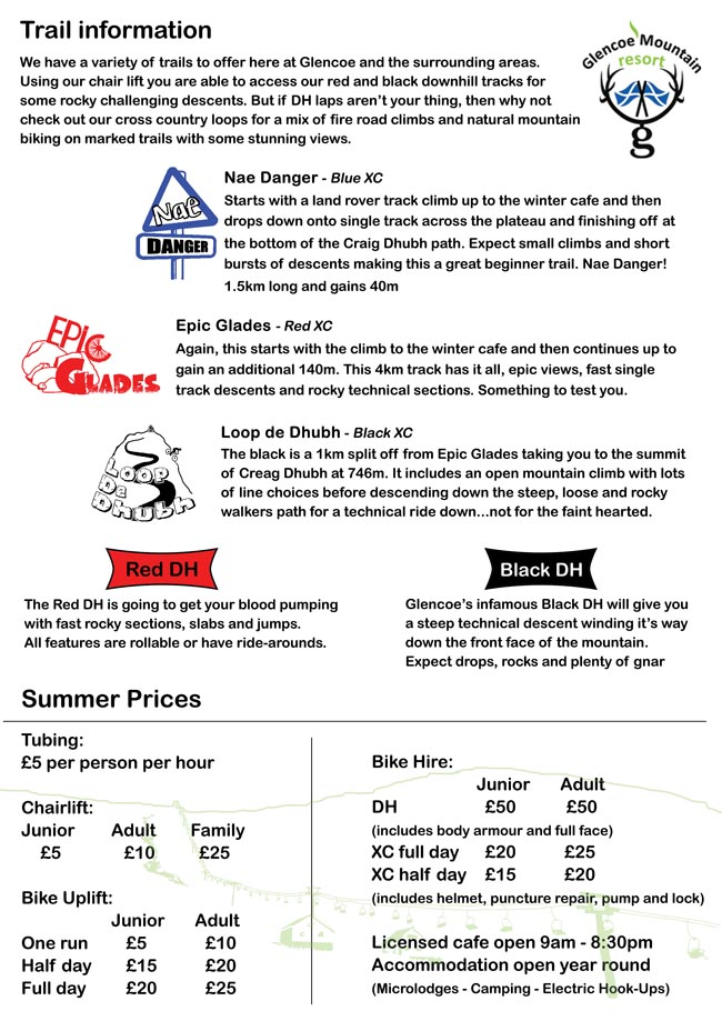 Glencoe-MTB-trail-info