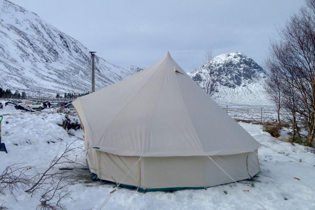 winter bell tent