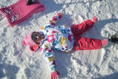 A little rest after a fun day sledging!
