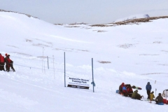 Killin Mountain Rescue and a group of Freeride skiers using the training park.